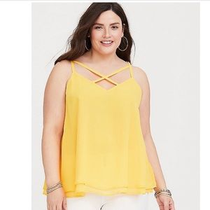 NWT Torrid Size 3 yellow top